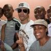 Avec l'équipe de radio Mayotte 1ère